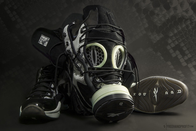 Reebok X BAIT Question Gas Mask by Freehand Profit